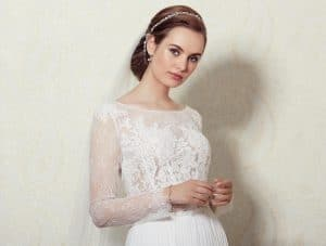 Lilly Wedding Mix & Match Lace Top 01-3808-CR The Bridal Affair Featuring Curvy Bridal