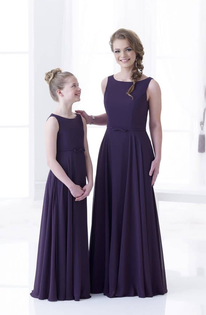 D'Zage DAB11802 and DAF21801 Bridesmaids and Flower Girl Dresses