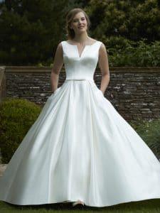 Romantica of Devon Olive Discounted Wedding Dress
