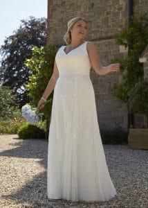 Romantica Silhouette Calypso Wedding Dress, The Bridal Affair featuring Curvy Bridal
