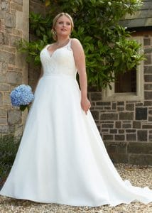 Romantica Silhouette Rosanna Wedding Dress, The Bridal Affair featuring Curvy Bridal