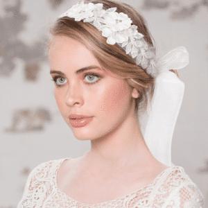 Athen Bridal Jewellery 1074 EXQUISITE EMBELLISHED RIBBON HEADBAND