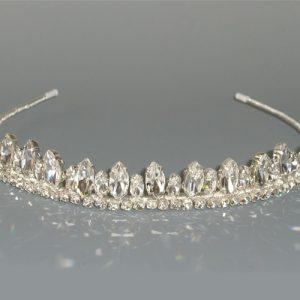 Richard Designs TR1311A Silver Crystal Tiara