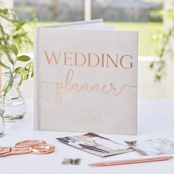 Ginger Ray Grey Suede Luxury Wedding Planner