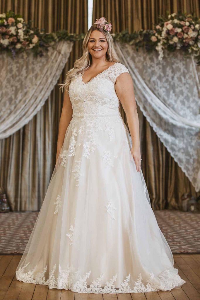 curvy bride, Victoria Kay Beauty, Wedding Dresses York from The Bridal Affair