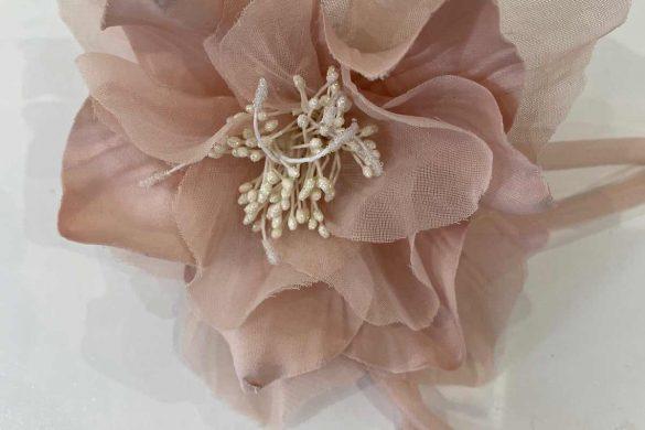 Emma Bridals wedding Fascinator blush