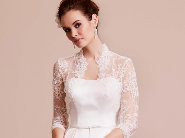 Lilly Bridal 09-3702 Lace Bolero