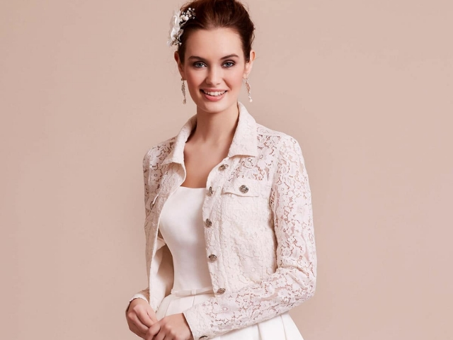Lilly Bridal 09-3805 Fitted Lace Jacket Jeans Cut