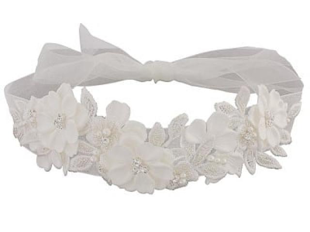 Athena Bridal Jewellery 1074 Exquisite embelished ribbon headpiece