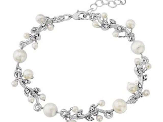 Athena Bridal Jewellery Bracelets 1103 Silver Starlet Bracelet
