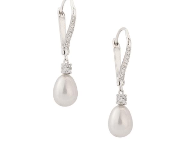 Athena Bridal Jewellery Earrings 1571 vintage heirloom earrings silver