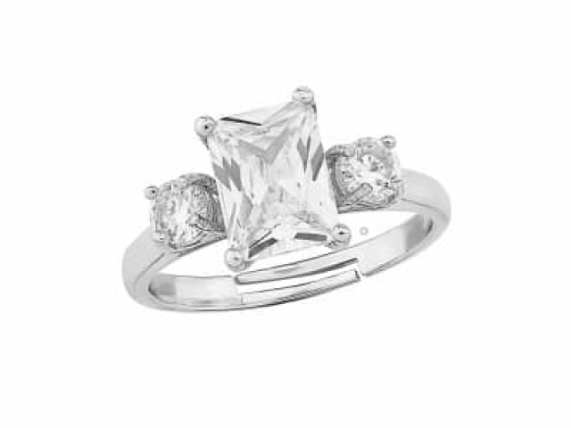 Athena Bridal Jewellery Ring 1583 Meghan adjustable ring silver