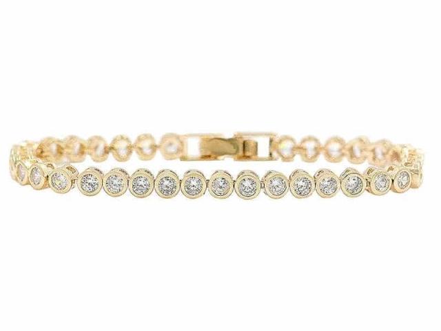 Athena Bridal Jewellery Bracelets 1891 Shimmering Crystal Bracelet Gold