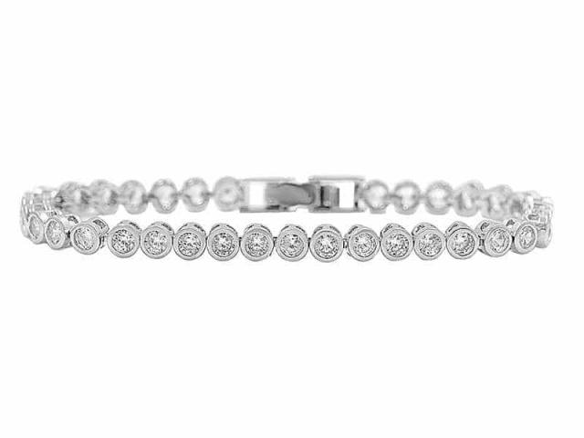 Athena Bridal Jewellery Bracelets 1893 Shimmering Crystal Bracelet Silver