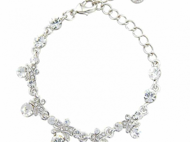 Athena Bridal Jewellery Bracelets 2835 Crystal lux bracelet silver