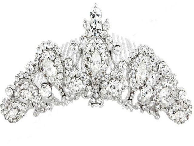 Athena Bridal Jewellery 3187 Precious crystal tiara comb