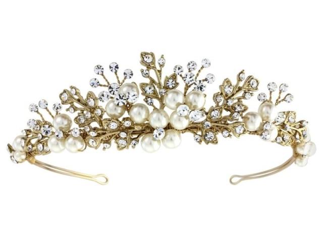 Athena Bridal Jewellery 3404 Tess Luxe Pearl Tiara