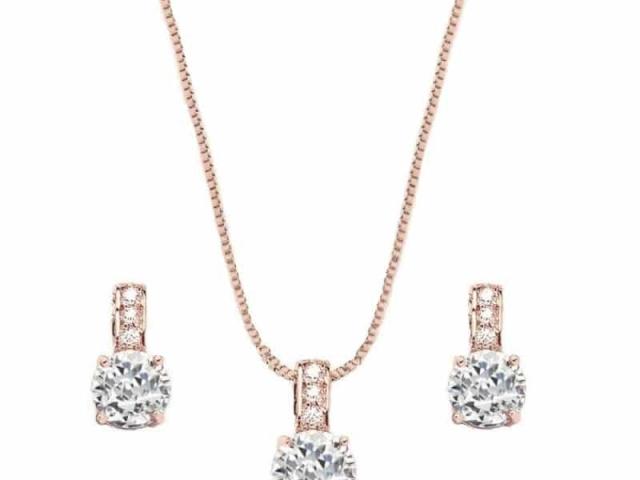 Athena Bridal Jewellery 4172 delicate shimmer necklace set