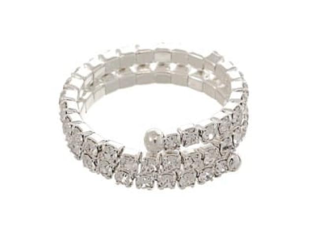 Athena Bridal Jewellery Ring 4185 crystal spiral ring
