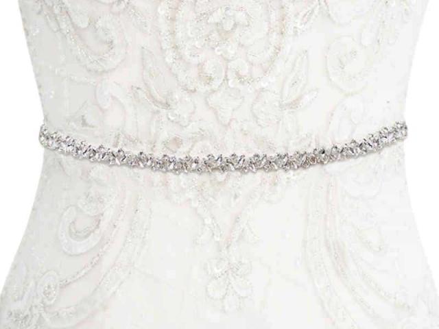 Athena Bridal Jewellery 7053 crystal cluster belt