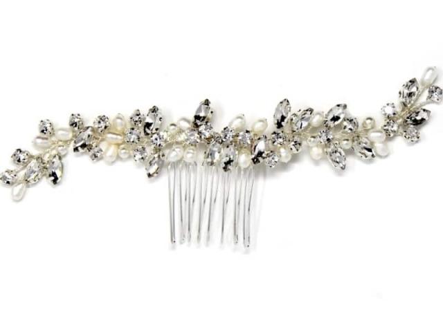 Athena Bridal Jewellery 7208 Pearl allure hair comb