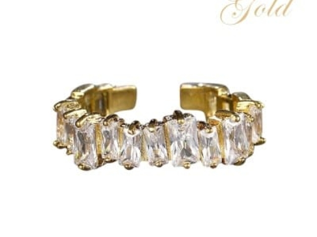 Athena Bridal Jewellery Ring 7251 Divine crystal ring gold