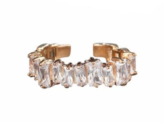 Athena Bridal Jewellery Ring 7251 Divine crystal ring rose gold