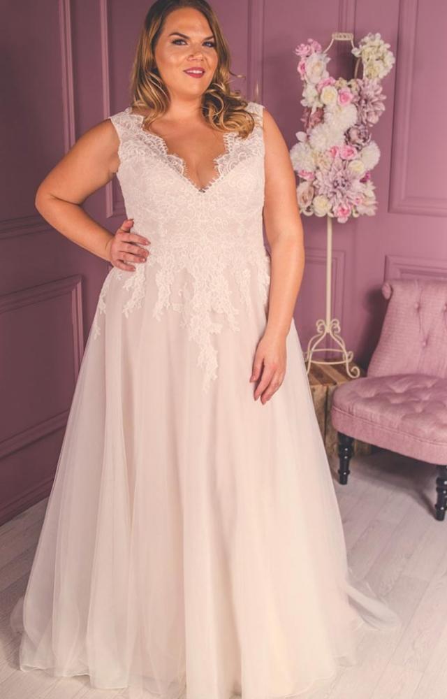 Victoria Kay Beauty BE30 Plus Size Wedding Dress