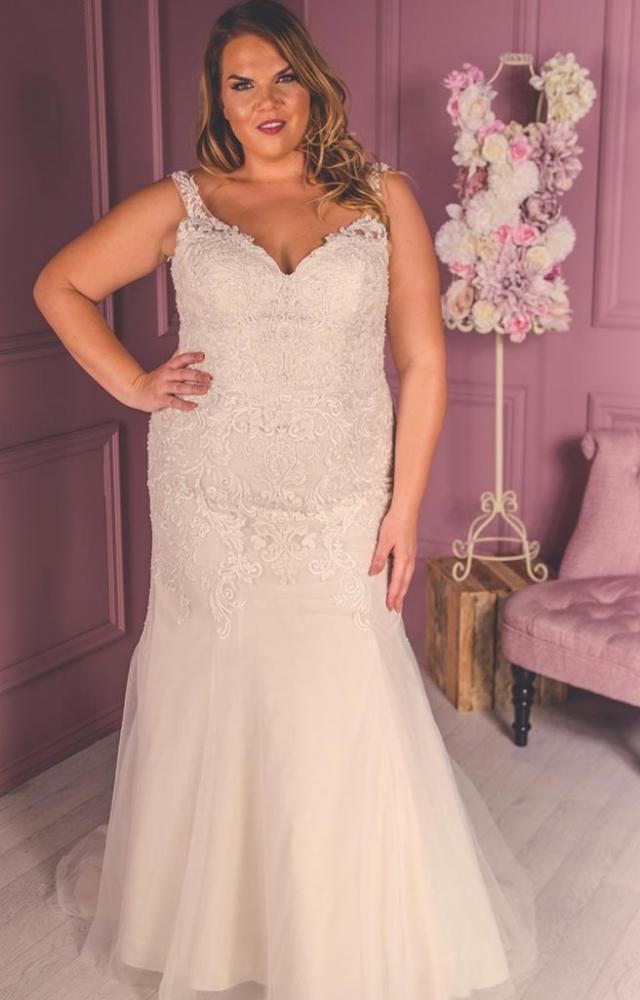 Victoria Kay Beauty BE40 Plus Size Wedding Dress