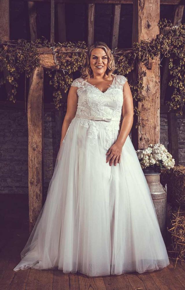 Victoria Kay Beauty BE80 Plus Size Wedding Dress