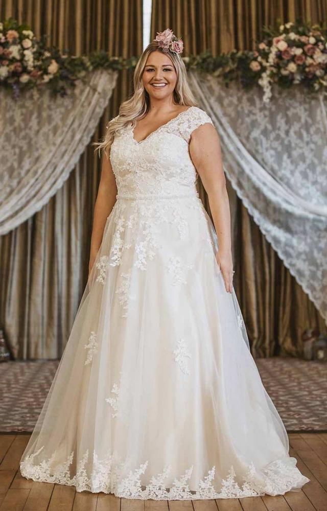 Victoria Kay Beauty BE90 Plus Size Wedding Dress