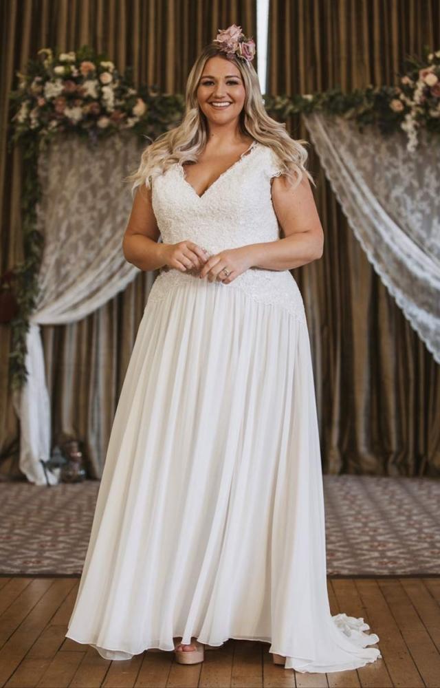 Victoria Kay Beauty BE99 Plus Size Wedding Dress