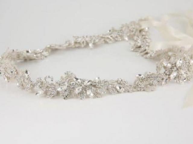 Richard Designs Belt 160 silver crystal bridal belt