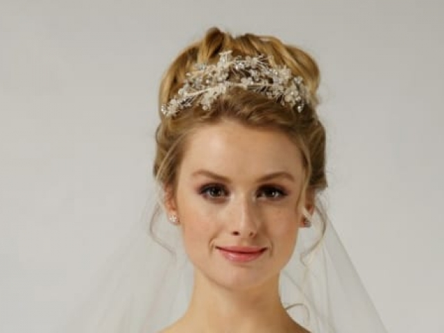 Richard Designs Bridal Jewellery TR2434A crystal and floral hairband